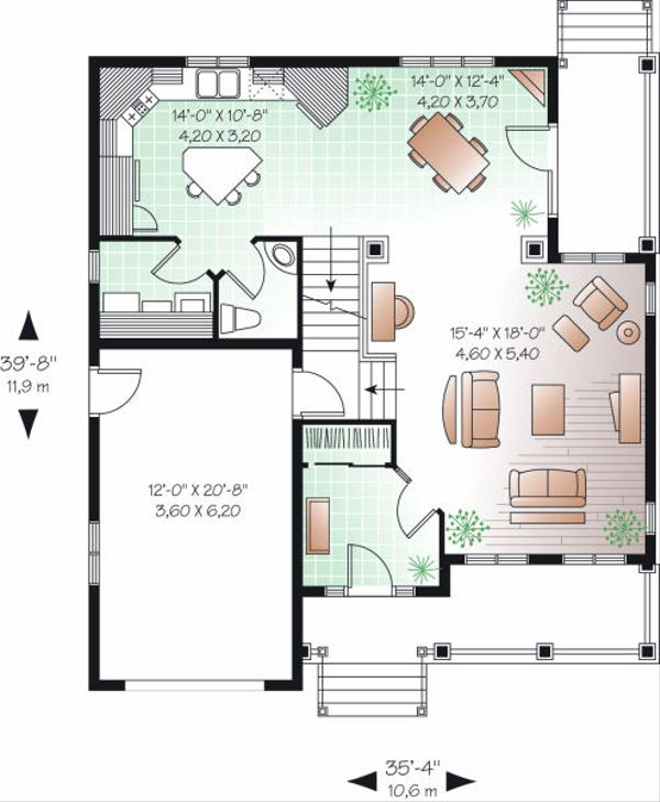 Farmhouse Floor Plan - Main Floor Plan Plan #23-803