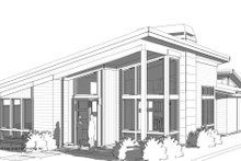 House Blueprint - Modern Exterior - Front Elevation Plan #895-124