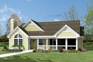 Farmhouse Exterior - Front Elevation Plan #57-333