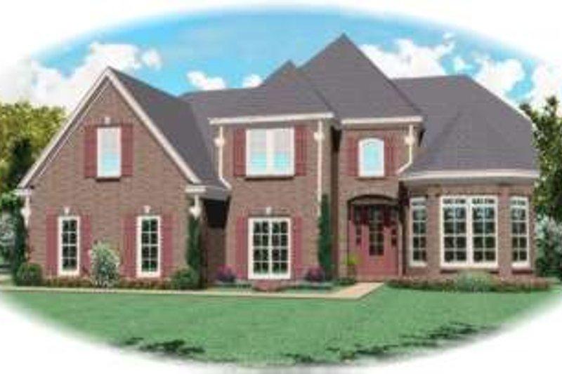 Traditional Style House Plan - 4 Beds 3 Baths 2851 Sq/Ft Plan #81-970 Exterior - Front Elevation