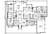 European Style House Plan - 4 Beds 4.5 Baths 7350 Sq/Ft Plan #20-2333 Floor Plan - Main Floor Plan