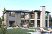 Classical Style House Plan - 4 Beds 3.5 Baths 4327 Sq/Ft Plan #1066-18 Exterior - Other Elevation