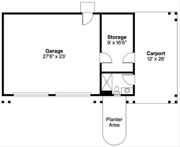 Craftsman Floor Plan - Main Floor Plan Plan #124-788