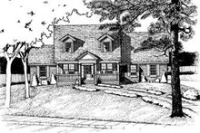 Dream House Plan - Country Exterior - Front Elevation Plan #20-682