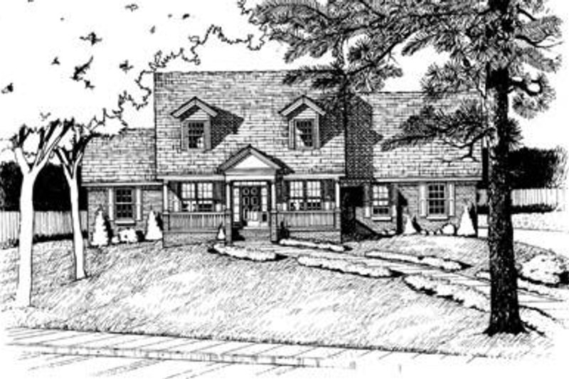 Country Exterior - Front Elevation Plan #20-682
