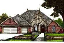 Dream House Plan - European Exterior - Front Elevation Plan #310-674