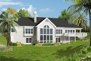 Mediterranean Style House Plan - 3 Beds 2.5 Baths 2614 Sq/Ft Plan #57-279 Exterior - Rear Elevation