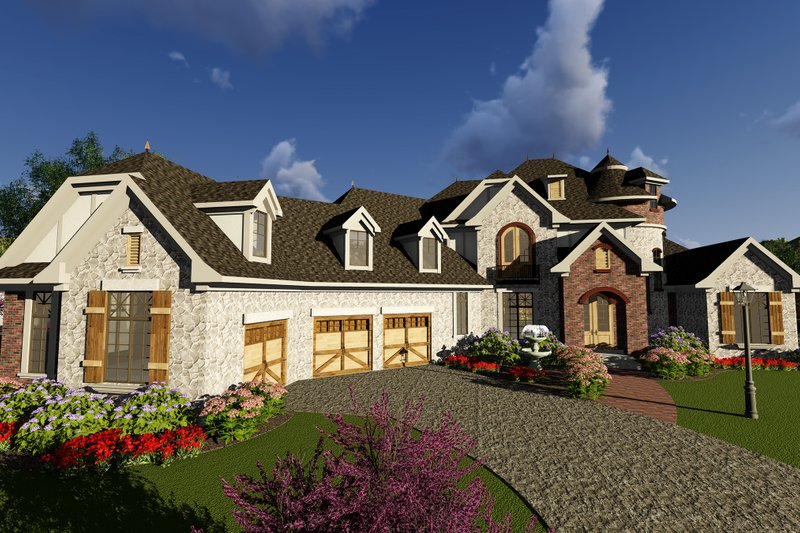 Dream House Plan - European Exterior - Front Elevation Plan #70-1294