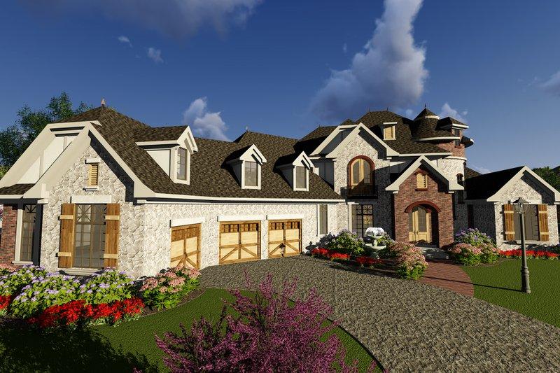 Home Plan - European Exterior - Front Elevation Plan #70-1294