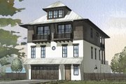 Beach Style House Plan - 4 Beds 3 Baths 2810 Sq/Ft Plan #901-114 Exterior - Front Elevation
