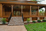 Country Style House Plan - 4 Beds 4.5 Baths 4256 Sq/Ft Plan #137-280 Exterior - Covered Porch
