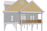 Cottage Style House Plan - 3 Beds 2.5 Baths 2038 Sq/Ft Plan #63-262 Exterior - Rear Elevation
