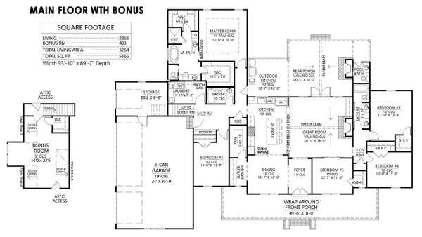 Dream House Plan - Bonus Room Option