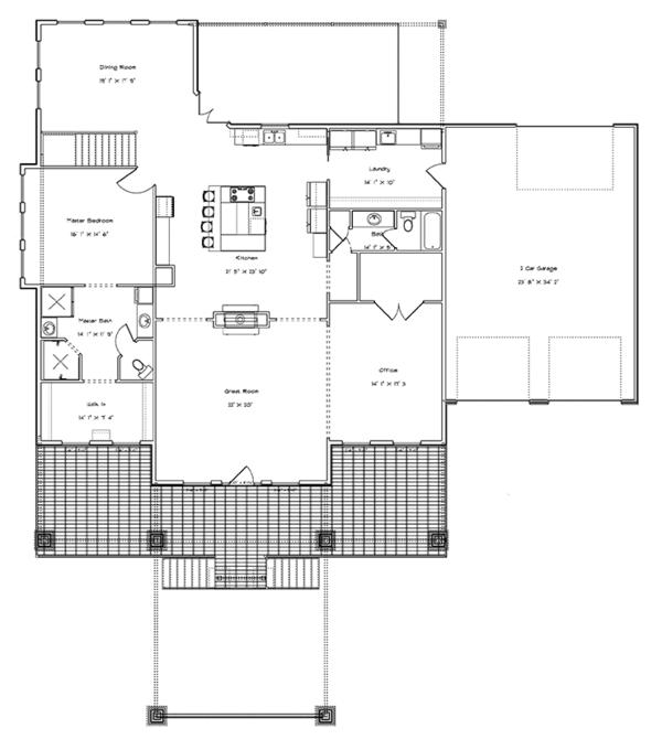 Dream House Plan - Ranch Floor Plan - Main Floor Plan #1060-21