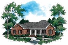 Colonial Exterior - Front Elevation Plan #21-403