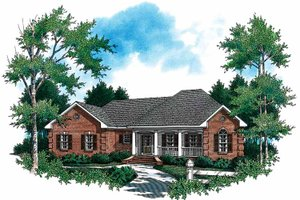 Architectural House Design - Colonial Exterior - Front Elevation Plan #21-403