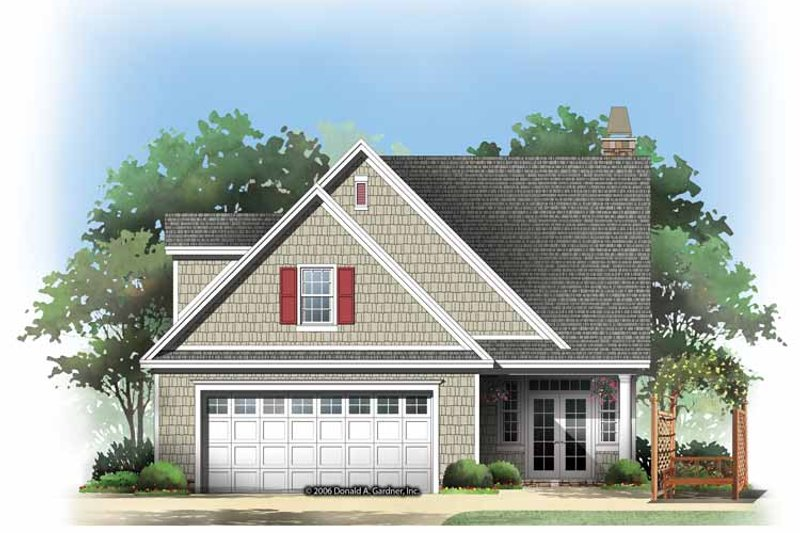 Traditional Exterior - Rear Elevation Plan #929-836 - Houseplans.com