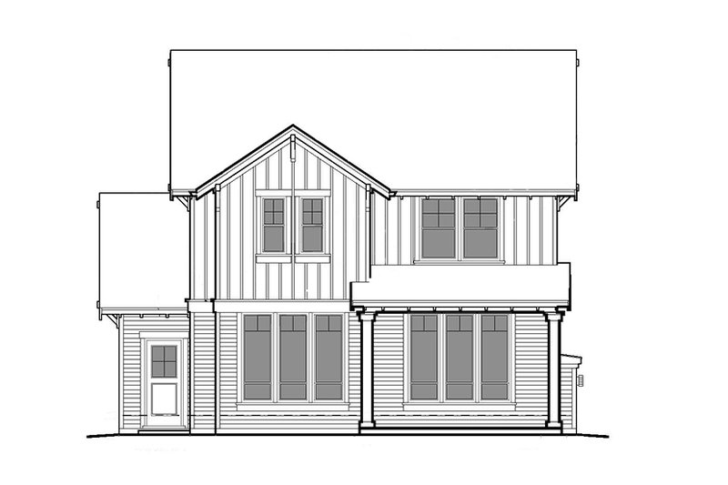 Craftsman Exterior - Rear Elevation Plan #48-906 - Houseplans.com