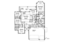 Country Floor Plan - Main Floor Plan Plan #310-1273