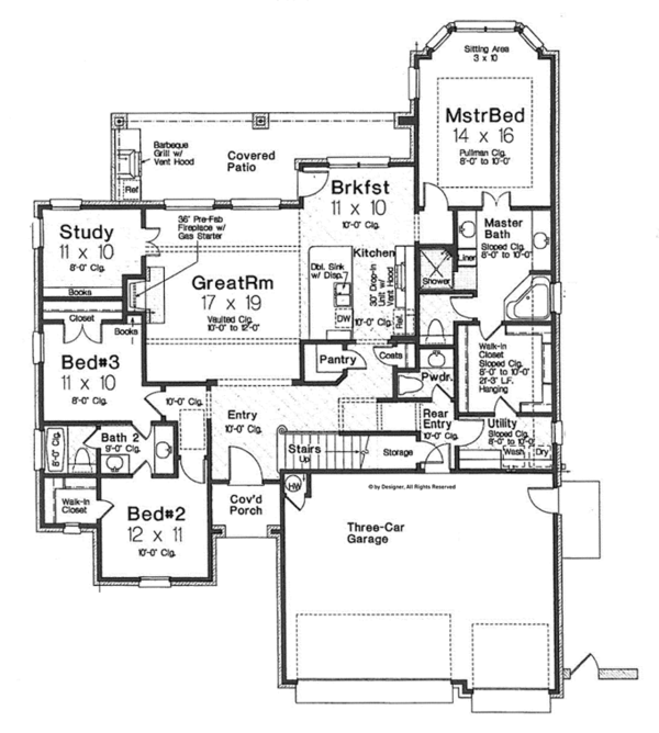 House Design - Country Floor Plan - Main Floor Plan #310-1273