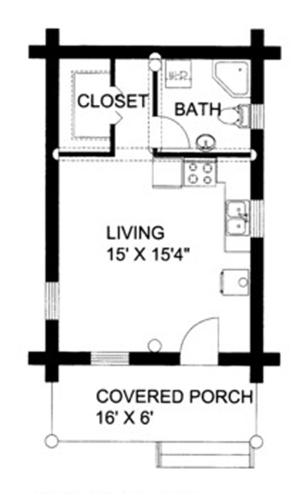 Log Floor Plan - Main Floor Plan Plan #117-828