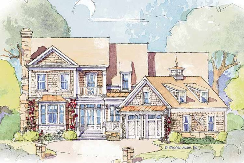 Colonial Exterior - Front Elevation Plan #429-355 - Houseplans.com