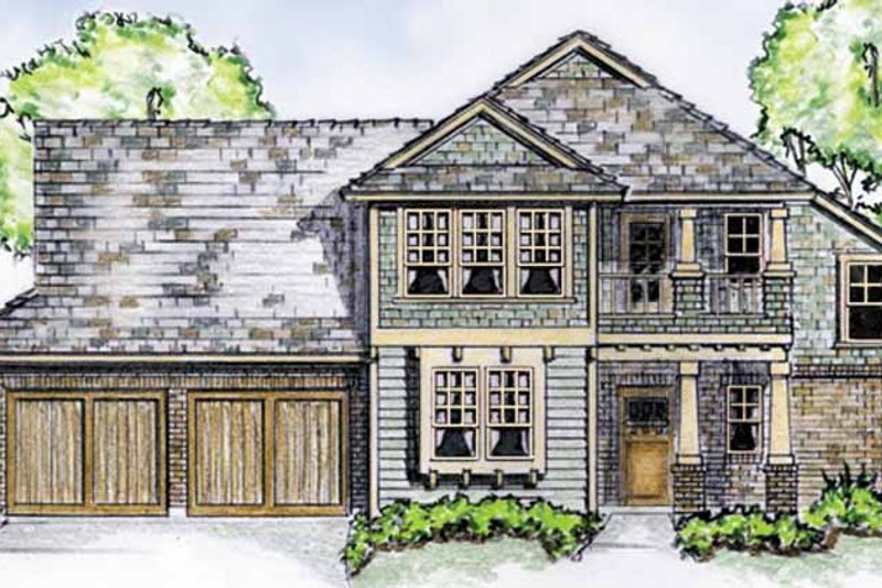 Country Exterior - Front Elevation Plan #410-3565