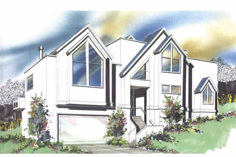 Contemporary Exterior - Front Elevation Plan #509-267 - Houseplans.com