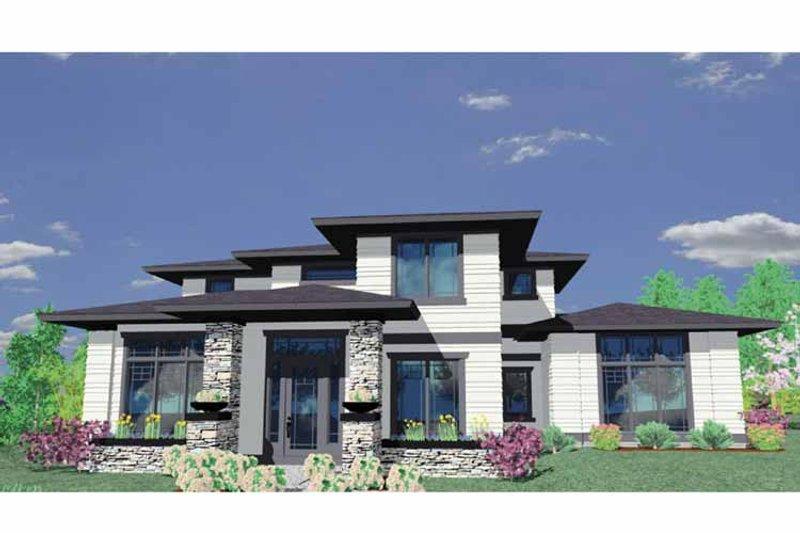 Craftsman Exterior - Front Elevation Plan #509-411 - Houseplans.com