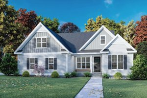 House Blueprint - Cottage Exterior - Front Elevation Plan #929-1129