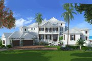 Country Style House Plan - 4 Beds 5.5 Baths 11243 Sq/Ft Plan #27-487 Exterior - Front Elevation