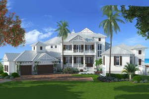 Country Exterior - Front Elevation Plan #27-487
