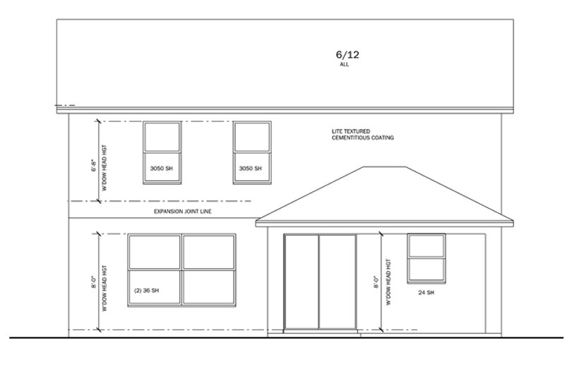 Craftsman Exterior - Rear Elevation Plan #1058-20 - Houseplans.com