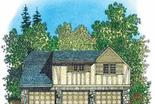 Home Plan - European Exterior - Rear Elevation Plan #1016-88