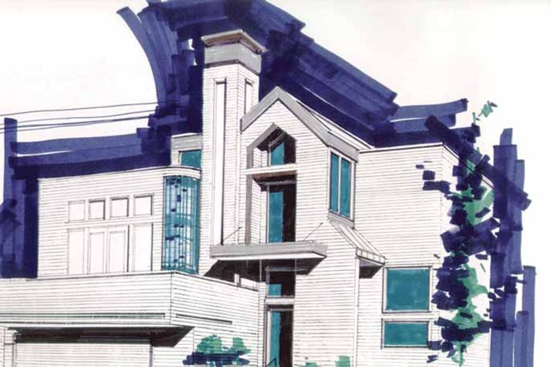 Contemporary Exterior - Front Elevation Plan #509-232