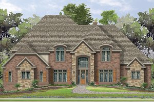 House Plan Design - European Exterior - Front Elevation Plan #1057-3