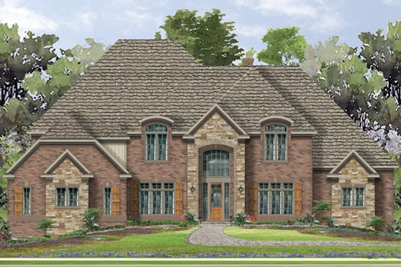 European Exterior - Front Elevation Plan #1057-3 - Houseplans.com