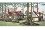Country Style House Plan - 3 Beds 3.5 Baths 2843 Sq/Ft Plan #928-251 Exterior - Rear Elevation