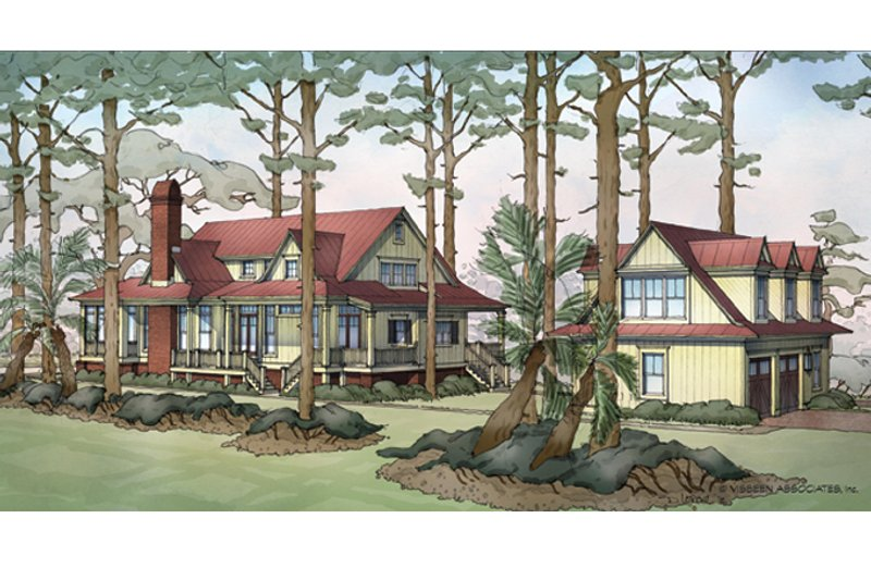 Country Exterior - Rear Elevation Plan #928-251 - Houseplans.com