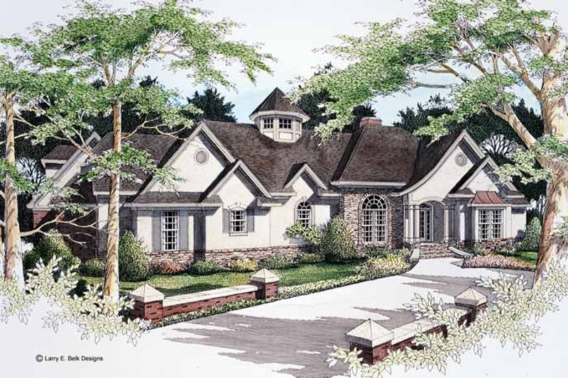 Country Exterior - Front Elevation Plan #952-78