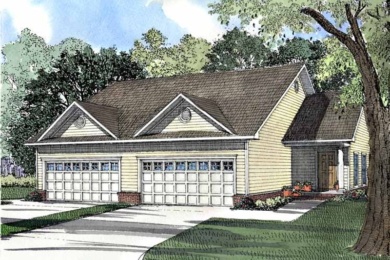 Dream House Plan - Ranch Exterior - Front Elevation Plan #17-3051
