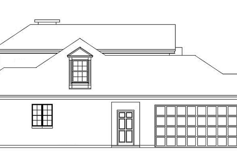 Traditional Exterior - Other Elevation Plan #325-287 - Houseplans.com