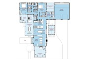 Country Style House Plan - 2 Beds 3 Baths 1851 Sq/Ft Plan #917-43 Floor Plan - Main Floor Plan