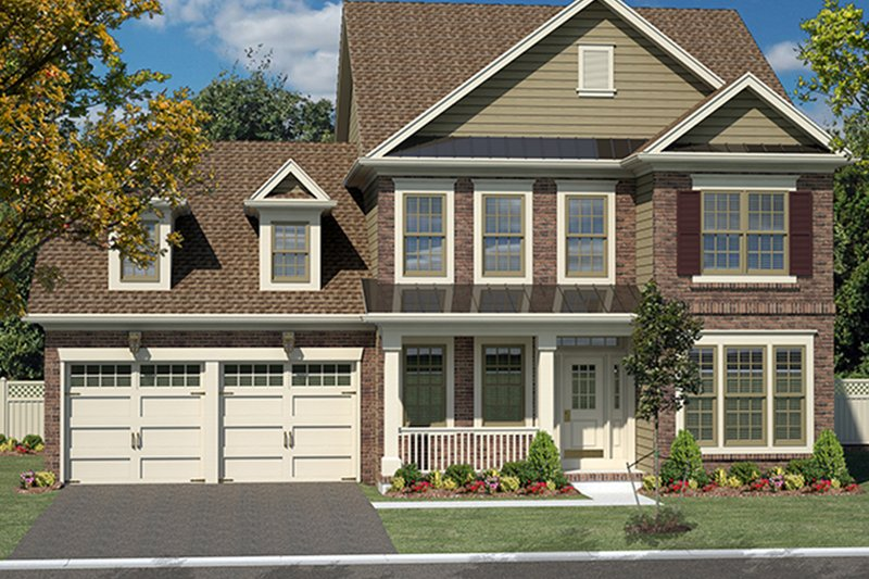 Traditional Exterior - Front Elevation Plan #316-277 - Houseplans.com