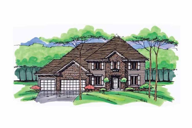 Traditional Exterior - Front Elevation Plan #51-1027