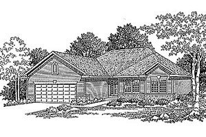 Traditional Exterior - Front Elevation Plan #70-151