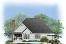 Dream House Plan - Traditional Exterior - Rear Elevation Plan #929-768