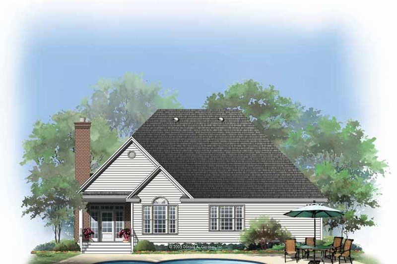 Traditional Exterior - Rear Elevation Plan #929-768 - Houseplans.com