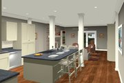 Craftsman Style House Plan - 3 Beds 2 Baths 1499 Sq/Ft Plan #56-704 Interior - Kitchen