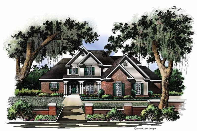 Country Exterior - Front Elevation Plan #952-215